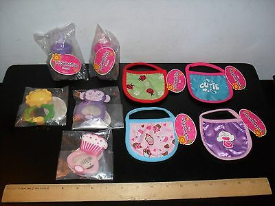 New! My Sweet Love Baby Doll Accessories Lot 9 Bibs Bottles Rattles 2012 Funrise