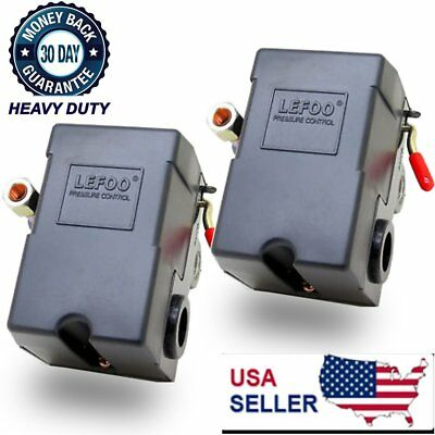 2X Pressure Switch for Air Compressor 95-125psi 1 PORT 26A /unloader LEFOO AS