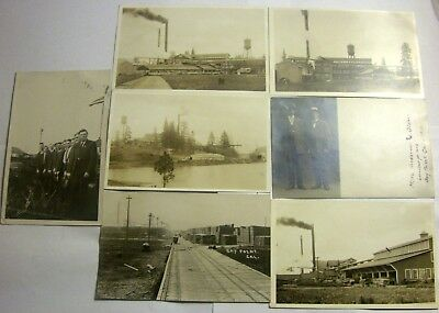 Lot Of 7 Diff Rare Antique Rppc's Bay Point Ca Lumber Mill Real Photos
