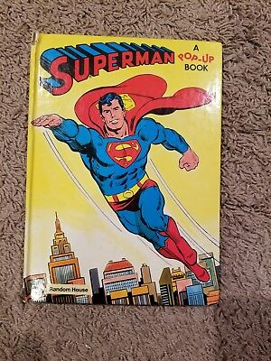 1979 Superman A Pop-Up Book Random House Hardcover 14 Pages
