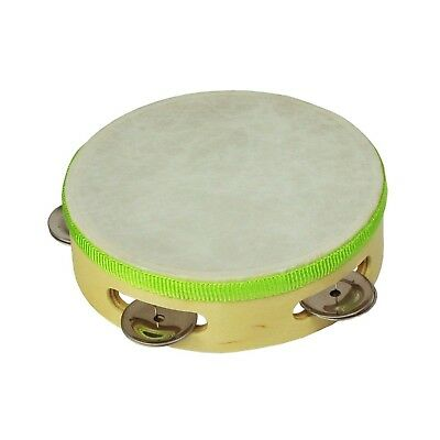 """NEW Drumfire 6"""" Wooden Headed Tambourine Kids Percussion Music Rhythm Toy"""
