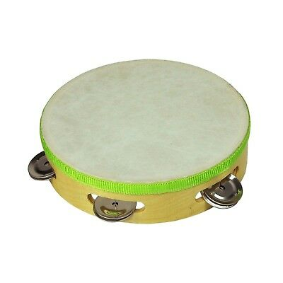 """NEW Drumfire 7"""" Wooden Headed Tambourine Kids Percussion Music Rhythm Toy"""