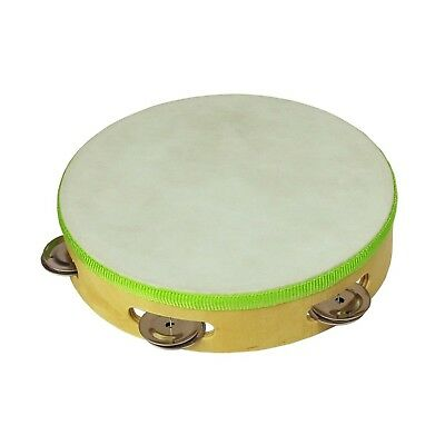 """NEW Drumfire 8"""" Wooden Headed Tambourine Kids Percussion Music Rhythm Toy"""