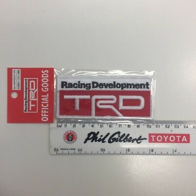 Genuine TRD Sew On Patch for Clothing / Overalls