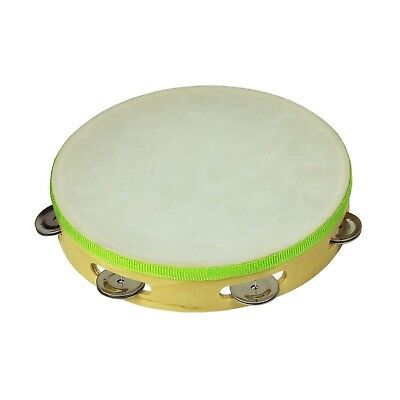 """NEW Drumfire 9"""" Wooden Headed Tambourine Kids Percussion Music Rhythm Toy"""