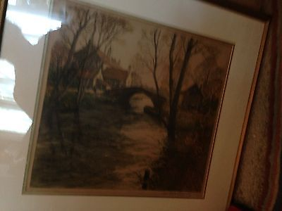 LAST CHANCE Gorgeous Signed Etching by Paul Emile Lecomte