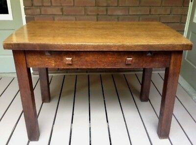 Arts and Crafts Expanding Quarter Sew Oak Table