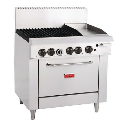 Thor 4 Burner Natural Gas Oven 12 Inch Grill Stainless Steel Commercial Unit