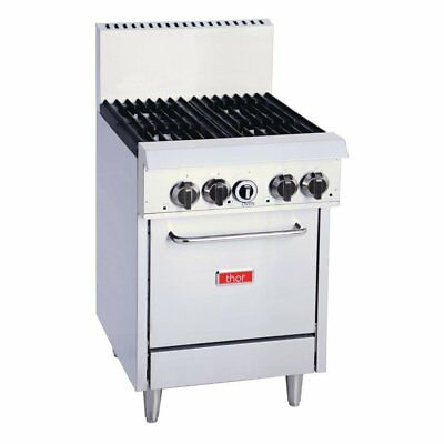 Thor 4 Burner Lpg Oven Freestanding Stainless Steel Cooking Commercial Unit
