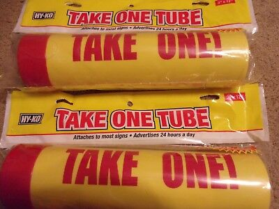 "Lot of 2 HY-KO 12"" Take One Tube Real Estate Seller Sheets Brochure Holders NEW"