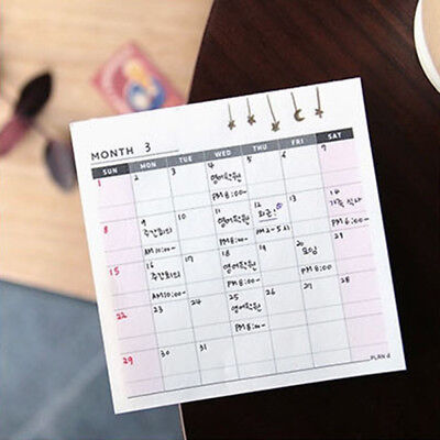 Weekly Monthly Work Notepad Planner Diary-Agenda Memo Dokibooks Notebook Hot