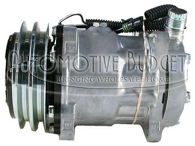 A/C Compressor w/Clutch for Sanden 4639, 4644, 4647 - NEW
