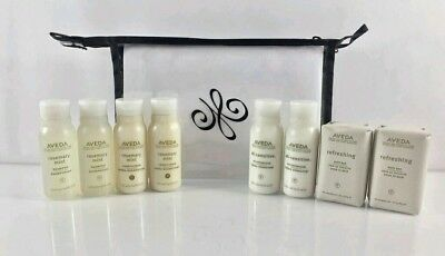 Aveda Travel Set 2 Shampoo 2 Conditioner 2 Lotion 2 Body Wash 2 Soap FREE BONUS!