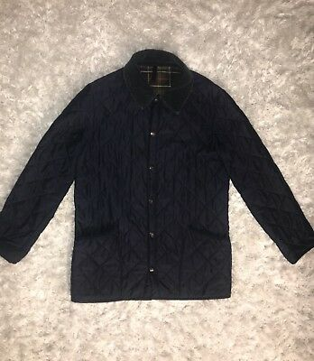Barbour Jacket Mens Size S Small Navy Blue