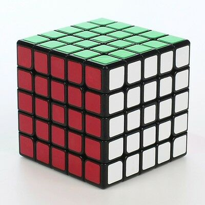 Yuxin Kylin 5x5x5 Speed Contest Magic Cube Twist Puzzle IQ Brain Game Toys Black