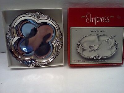 Empress International Deep Silver Two Piece Party Set MISSING SPOON!!
