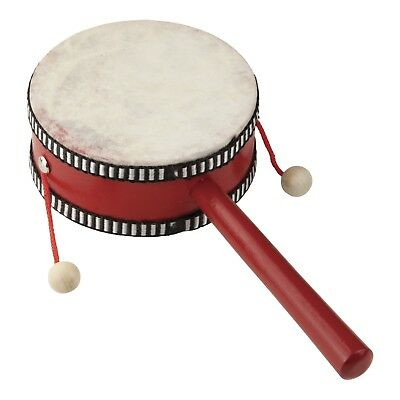 NEW Drumfire 4cm Headed Wooden 'Monkey' Drum Hand Percussion Kids Music Toy