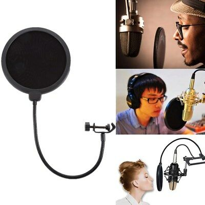 Recording Studio Microphone Mic Wind Screen Pop Filter Shield Mask Double Layer
