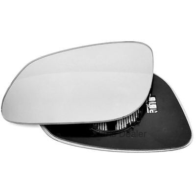 Passenger side Clip Heated Convex wing mirror glass for Porsche Cayenne 02-07