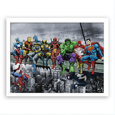 Super Heroes Marvel Ink Painting Room Wall Decor Canvas Art Mural For Fans AU