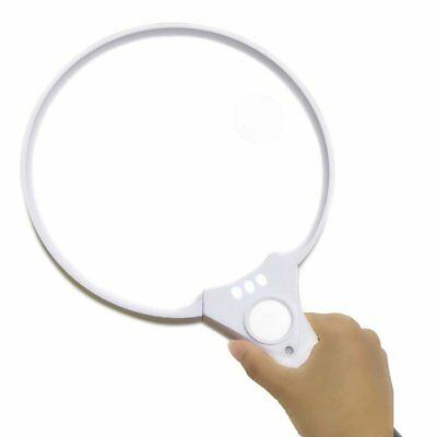 Extra Large 3 LED Handheld Jewelry Magnifying Glass 2X 4X 25X Reading Magnifier
