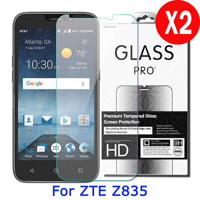 2X 9H Real Premium Tempered Glass Screen Protector Film For ZTE Maven 3 ZTE Z835