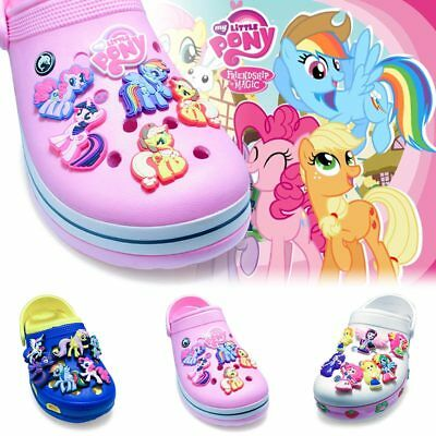 2pcs My Little Pony PVC Shoe Charms Shoe Accessories Fit Bracelets Croc JIBZ