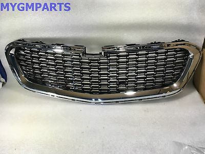 Chevy Malibu Chrome And Black Front Grille 2014-2016 New Oem Gm  22995179