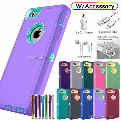iPhone 6 7 8 Plus 11 Pro Max XR X Case Cover Protective Hybrid Rugged Shockproof