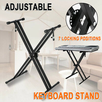 Keyboard Stand Height Adjustable Stylish And Solid Piano Double Braced X Type