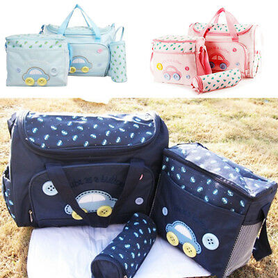 Laminated Water Proof Insulated Thermal 4pcs Baby Nappy Changing Diaper Bags