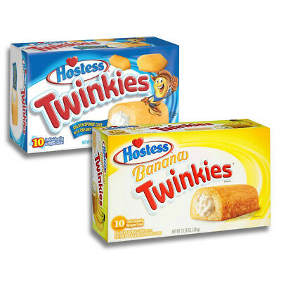 Twinkies Twin Pack | Original und Banane | Kult aus den USA (2x10 Stück) Hostess
