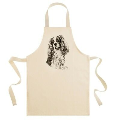 Mike Sibley Cavalier King Charles Spaniel dog breed cotton drill bib apron -gift
