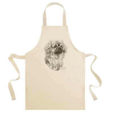 Mike Sibley Tibetan Spaniel dog breed cotton drill bib apron - cook/chefs gift