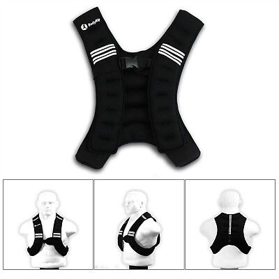 BodyRip Weighted Vest 5kg Weight Loss Exercise Home Gym Running Training Jacket