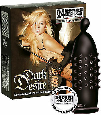 condoms condoms black Secura Dark Desire 24 Pieces - Erizon Sexy Shop