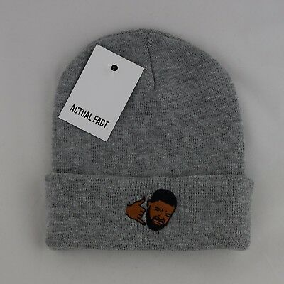 9ae605834 Actual Fact Drake Hotline Bling Embroidered Hip Hop Roll Up Grey Beanie Hat