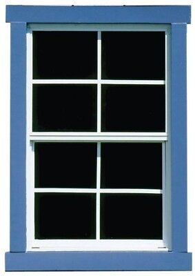 Handy Home Products Large Square Window Aluminum Construction Tempered Glass New