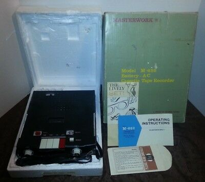 Vintage MASTERWORK Columbia Records CASSETTE Tape Portable Recorder M-652 In Box