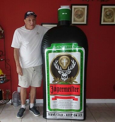 Large 6 FT Tall Inflatable Jagermeister Bar Display, Man Cave, Game Room