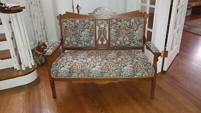 VICTORIAN EAST LAKE  SETTEE   1800''S antique MINT!! pet free smoke free