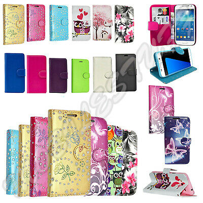 For SAMSUNG GALAXY J3 2017 - Wallet Leather Case Flip Cover + TEMPERED GLASS