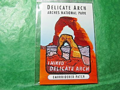 Arches National Park I Hiked Delicate Arch Embroidered Patch Utah Souvenir-P10