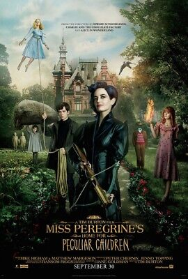MISS PEREGRINE'S HOME FOR PECULIAR CHILDREN MOVIE POSTER 2 Sided ORIGINAL 27x40