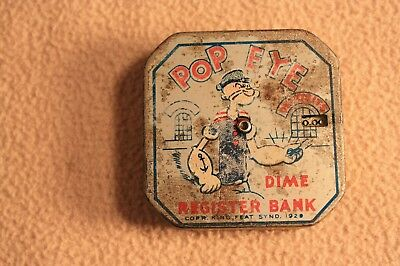 1929 Pop Eye $5.00 Dime Register Bank