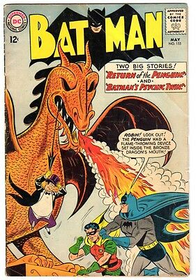Batman #155 (May 1963) GD Condition 1st Silver Age Penguin Appearance