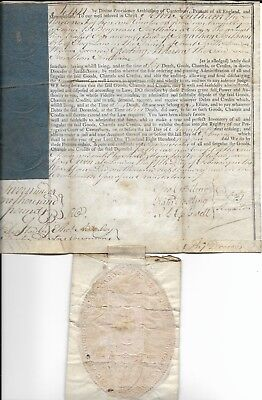 Interesting Document, Southam Family and Archbishop of Canterbury, 1800