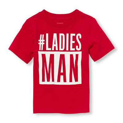 Tcp Toddler Boy #ladies Man Red Cotton T-Shirt Tee 2T 3T 4T 5T Valentine's Day