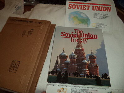 "National Geographic 1990 ""The Soviet Union"" Today 1st Ed. Book & Map NEW!"