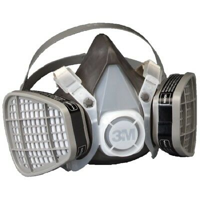 New 3M Dust Paint Mask Half Face Respirator Filter Spray Protect Smoke Gas Large
